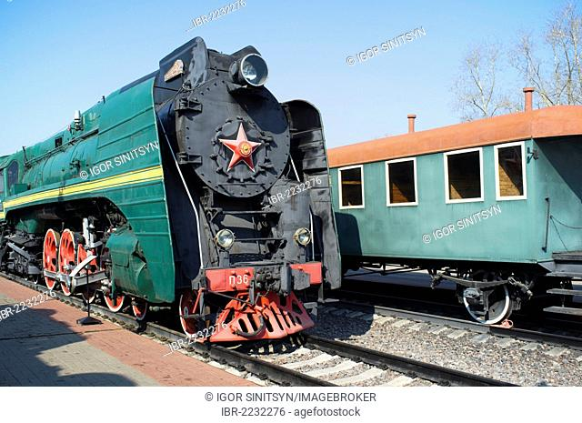 Russian steam locomotive P36-0001, built in 1950
