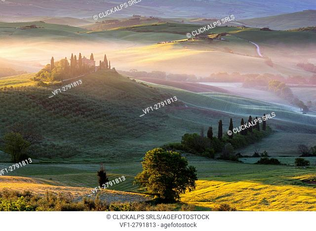 Podere Belvedere, province of Siena, San Quirico d'Orcia, Tuscany, Italy