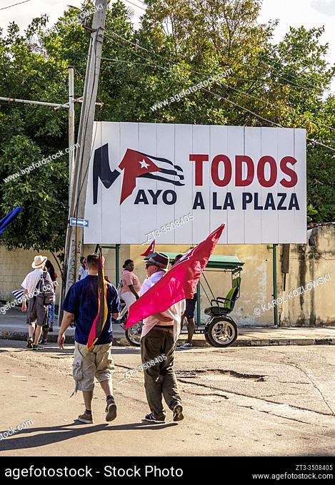 1st of May Labour Day Parade, Plaza de la Revolucion, Revolution Square, Havana, La Habana Province, Cuba