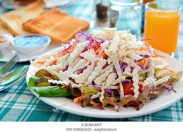 Helianthus tuberosus salad food healthy breakfast for weight loss