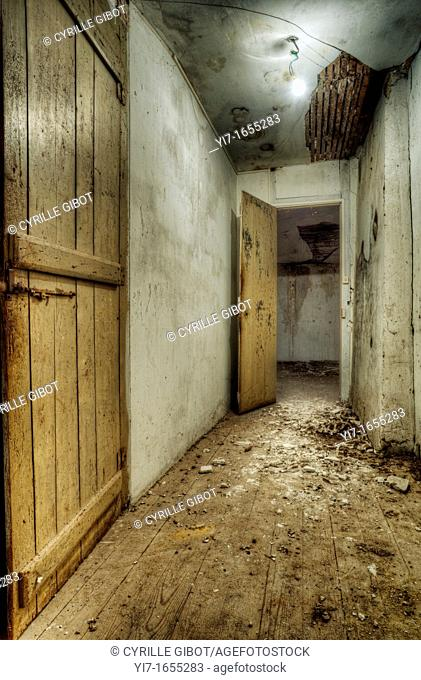 Corridor in abandoned house