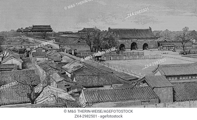 Beijing Imperial Palace in 1900, Picture from the French weekly newspaper l'Illustration, 7th July 1900