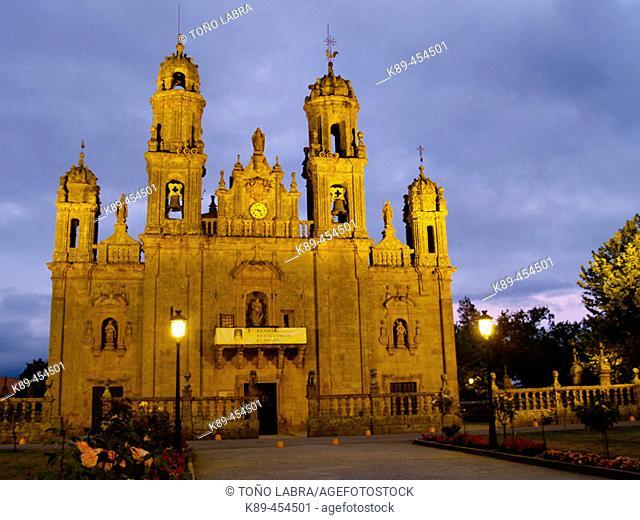 Nuestra Señora de los Milagros shrine, Baños de Molgas. Orense province, Galicia, Spain