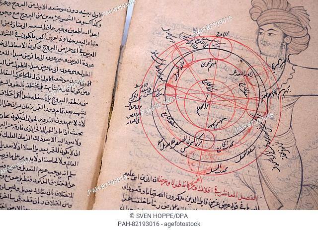 An astrological treatise from Iran/Iraq (ca. 17th/18th century) seen at the State Office of Criminal Investigations (LKA) in Munich, Germany, 21 July 2016