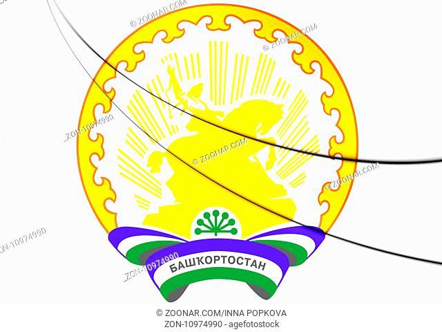 Republic of Bashkortostan Coat of Arms, Russia. 3D Illustration