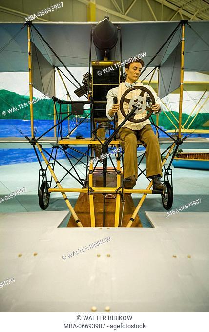 USA, New York, Finger Lakes Region, Hammondsport, Glenn H, Curtiss Museum, dedicated to early US aviation pioneer and resident Glenn Curtiss, Curtiss A-1 Triad