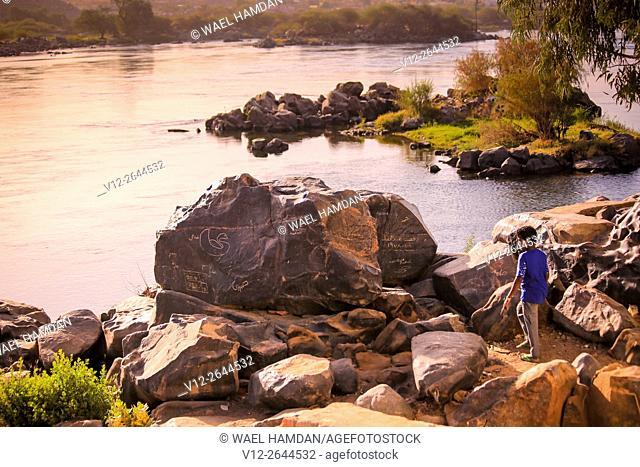 Sehel Island and river Nile. Aswan. Nubia. Egypt