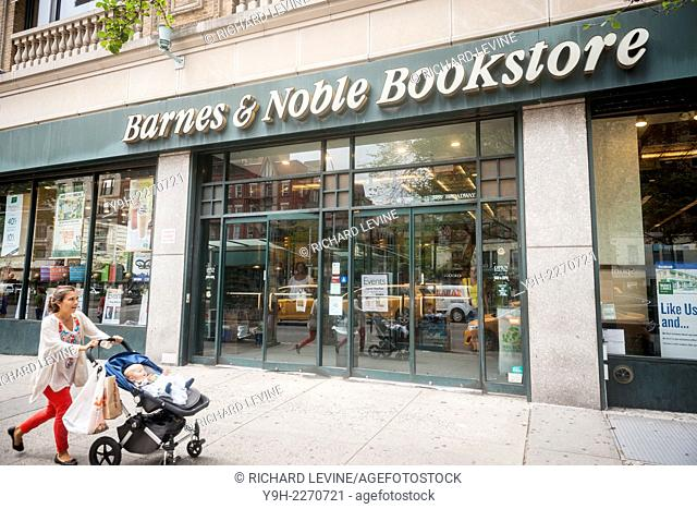 A Barnes & Noble bookstore in the Upper West Side neighborhood of New York