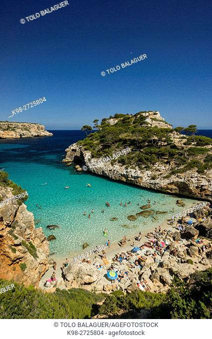 cala de Es Moro, Santaniy, Majorca, Balearic Islands, Spain
