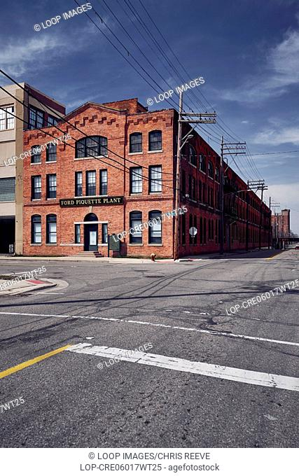 Ford Piquette plant from the road side in Detroit