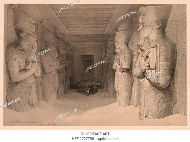 Egypt and Nubia: Volume I - No. 14, Interior of the Temple Aboo Simbel, 1836. Creator: Louis Haghe (British, 1806-1885)