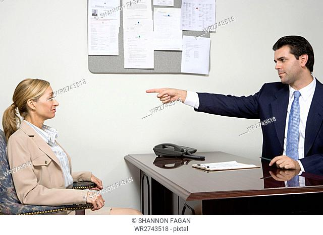 Woman being rejected