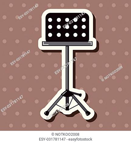 Music stand theme elements vector, eps