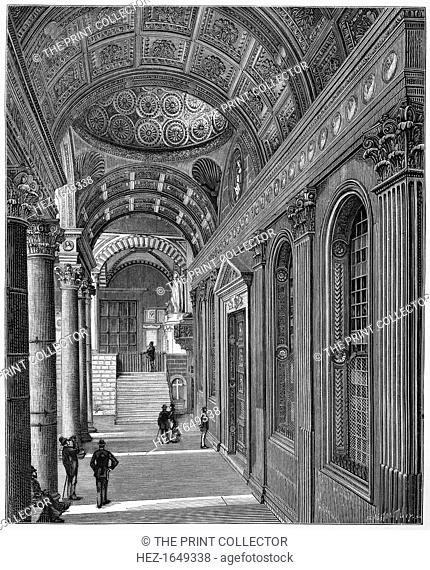 Portico of the Pazzi Chapel, Cloister of Santa Croce Basilica, Florence, 1882. From Florence, by Charles Yriarte, translated by CB Pitman and published by...