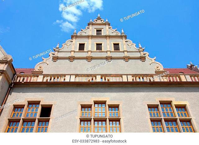 Poznan, Poland - city architecture. Greater Poland province (Wielkopolska). Adam Mickiewicz University (UAM). Law and Administration faculty