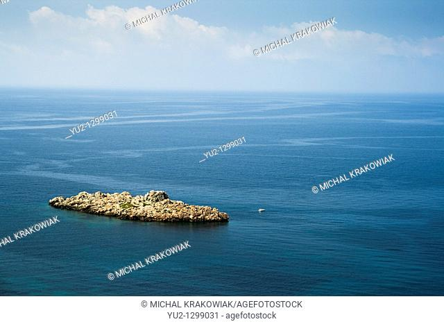 Rocky islet on the coast of Montenegro