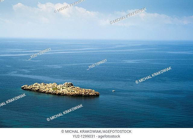 Rocky islet on the coast of Montenegro
