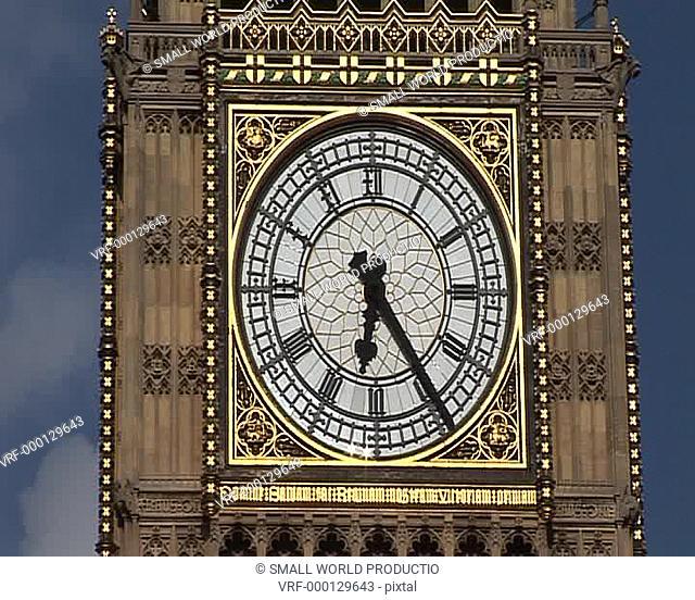 Big Ben close up of face, London