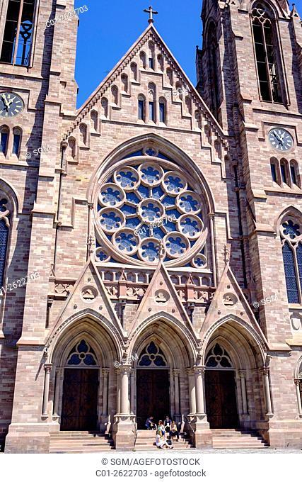 St-Paul protestant church, Strasbourg, Alsace, France