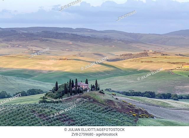 Il Belvedere in the Val d'Orcia, Tuscany, Italy