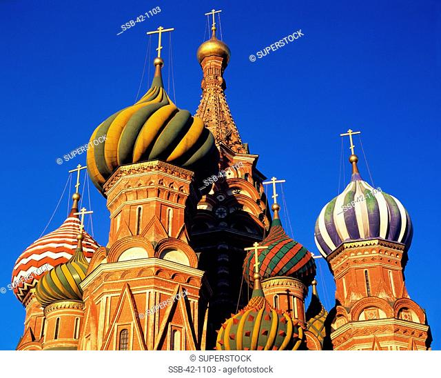 High section view of a cathedral, St. Basil's Cathedral, Moscow, Russia