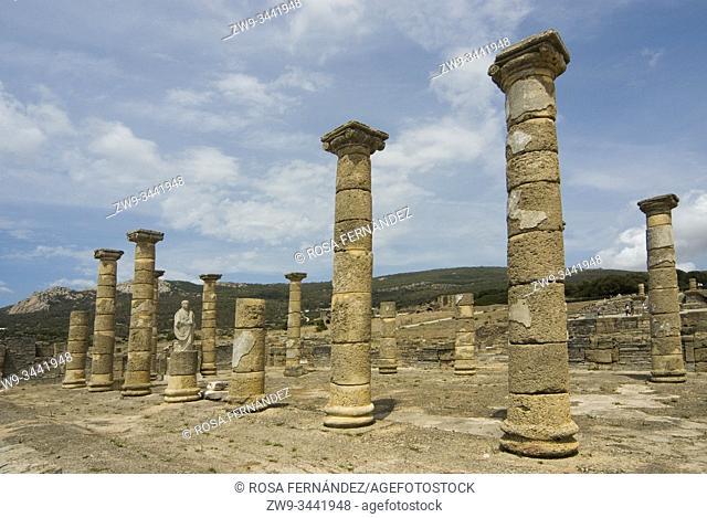 Ruins of the Roman town of Baelo Claudia, Bolonia, archaeological site, II century, Tarifa, province of Cádiz, Andalucia, Spain