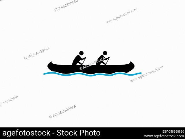 shape sailing boat for logo, symbol shipping company