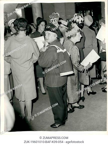 Oct. 10, 1960 - WOMEN FF THE YEAR LUNCHEON ?¢'Ǩ'Äù AT THE SAVOYL. BRITAIN'S ONLY WOMAN HARBOUR MASTER. Many well known women from all walks of life ?¢'Ǩ'Äù...
