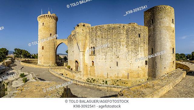 castillo de Bellver, Palma, Mallorca, balearic islands, Spain