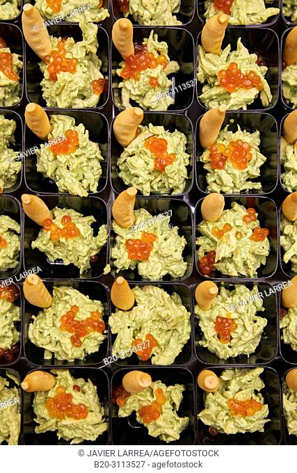 Guacamole, Catering in congress, Kursaal Congress Palace, Donostia, San Sebastian, Gipuzkoa, Basque Country, Spain, Europe