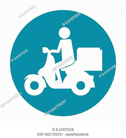 scooter food delivery related icons emblem vector illustration design
