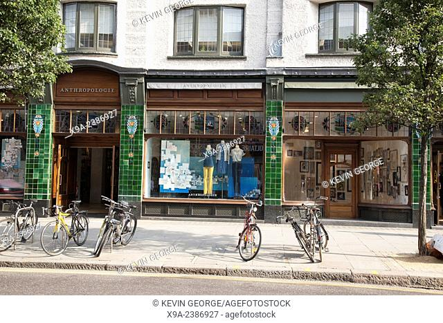 Anthropologie Shop; Kings Road; Chelsea; London; England; UK