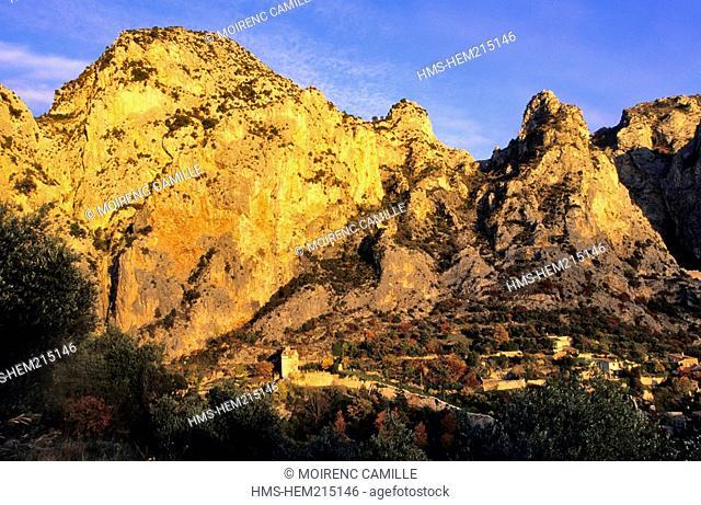 France, Alpes de Haute Provence, Verdon Regional Natural Park, Moustiers Sainte Marie, labelled Les Plus Beaux Villages de France The Most Beautiful Villages of...