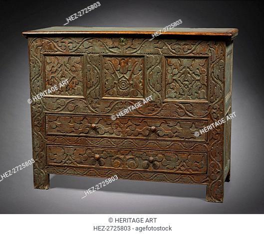 Chest, 1690-1720. Creator: Unknown