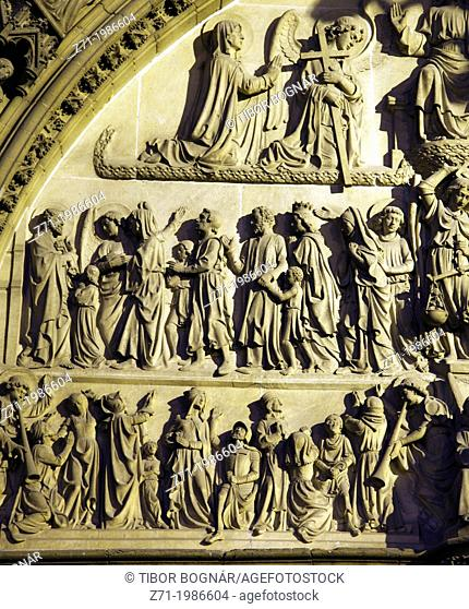 Belgium, Antwerp, Cathedral, detail, relief,