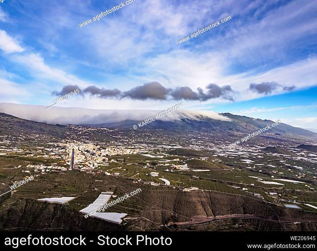View towards Los Llanos from Mirador del Time, La Palma, Canary Islands, Spain