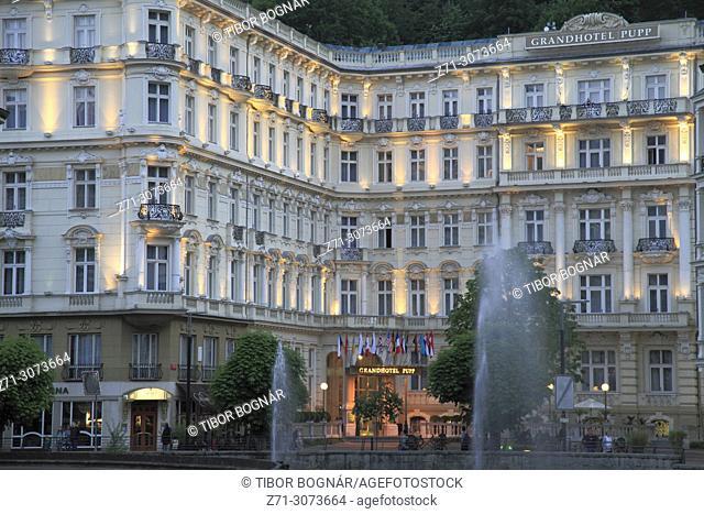 Czech Republic, Karlovy Vary, Grandhotel Pupp,