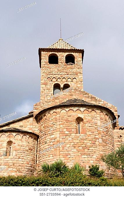 Romanesque church of Sant Vicens, Espinelves, Barcelona province, Spain