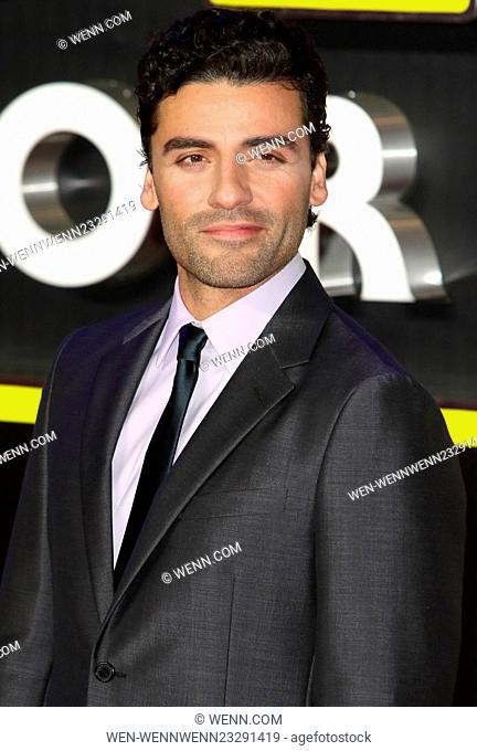 Star Wars: The Force Awakens - European Premiere at Leicester Square, London Featuring: Oscar Isaac Where: London, United Kingdom When: 16 Dec 2015 Credit: WENN