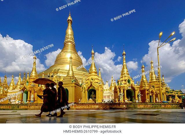 Myanmar, Yangon, Pagoda of Shwedagon, dated between 6 and 10 th. century