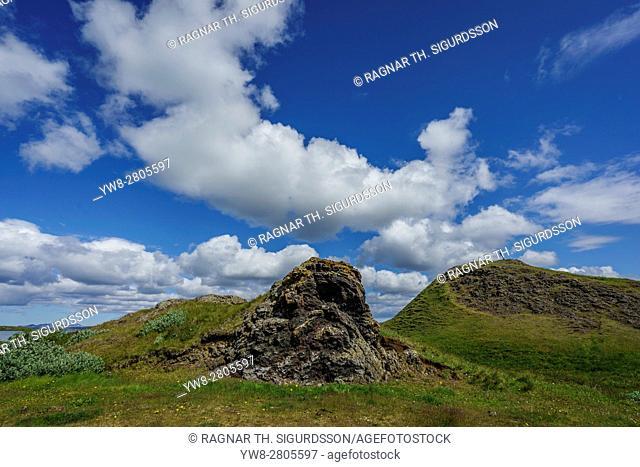 DCIM\100GOPRO Summertime, Skutustadagigar pseudo craters, Skutustadir, Lake Myvatn Area, Northern Iceland
