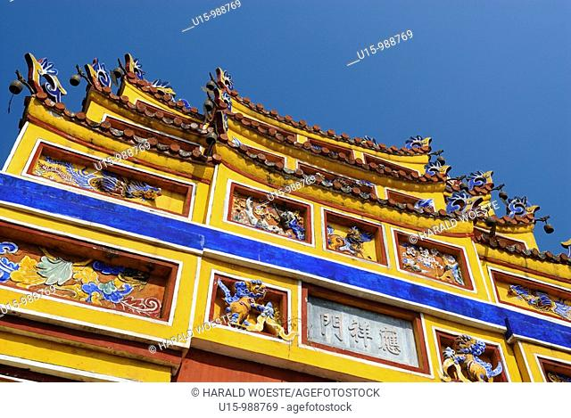 Asia, Vietnam, Hue  Temple Hung Mieu to honouring the grandparents  Designated a UNESCO World Heritage Site in 1993, Hue is honoured for its complex of historic...