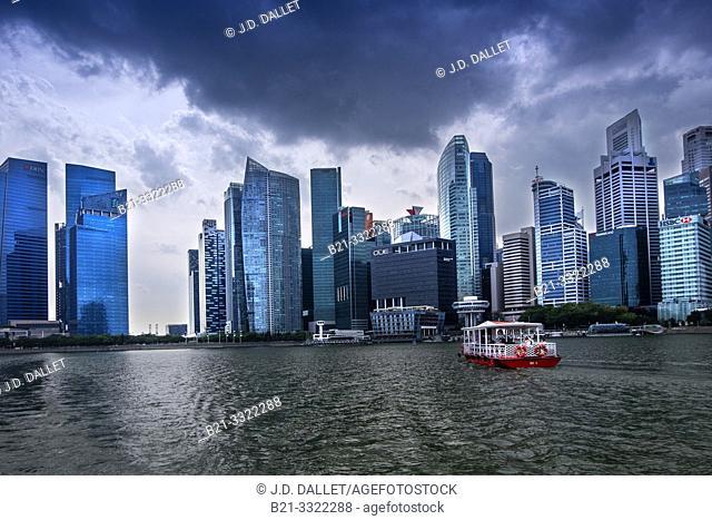 Singapore, Central area from Marina Bay