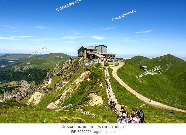 Mountain station of the cable car of Sancy, Massif of Sancy, Auvergne Volcanoes Natural Regional Park, Massif du Sancy, Auvergne, France, Europe