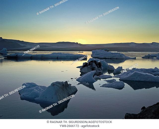 Icebergs - Jokulsarlon Glacial Lagoon, Breidamerkurjokull Glacier, Vatnajokull Ice Cap, Iceland