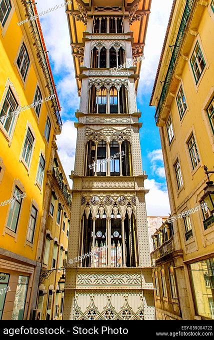 Santa Justa Lift (Carmo Lift), an elevator in Lisbon, Portugal
