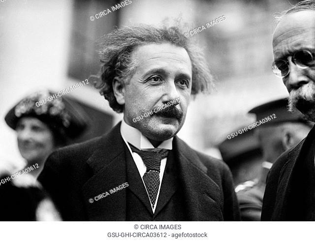 Albert Einstein, Portrait While Visiting White House, Washington DC, USA, Harris & Ewing, 1921