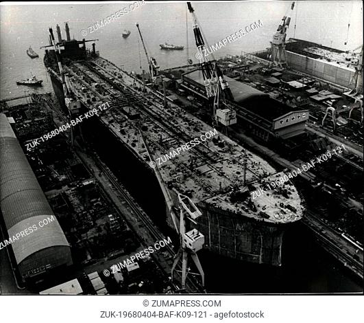 Apr. 04, 1968 - World's Largest Tanker Launched. A 276,000-DWT tanker, the largest in the world has been launched at the Yokohama Shipyard of...