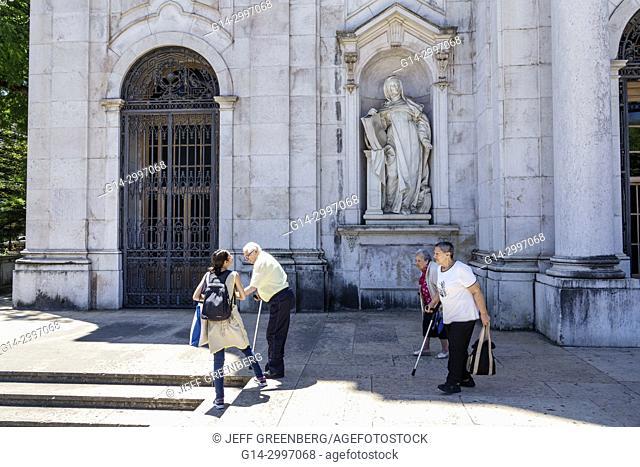 Portugal, Lisbon, Lapa, Basilica da Estrela, do Sagrado Coracao de Jesus, Convent of the Most Sacred Heart of Jesus, Catholic, cathedral, Baroque, neoclassical