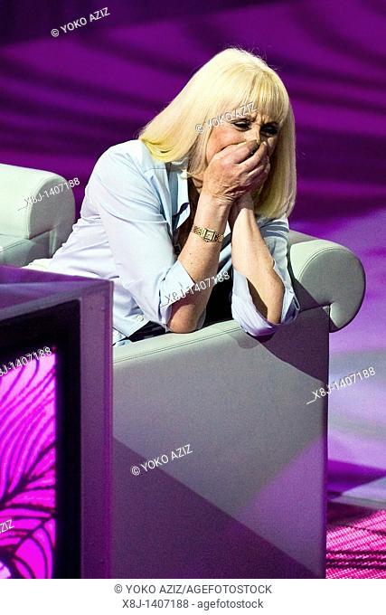 10 04 2011, Milan  'Che tempo che fa' telecast RAI 3  Raffaella Carrà